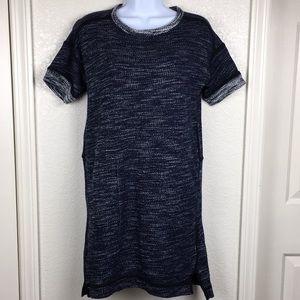 Madewell Short Sleeve Marled Sweater Knit Dress